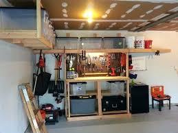 Garage Bench Storage Work Woodworking Plans