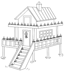 Free Printable Coloring Pages Of Houses