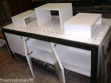 RETAIL DISPLAY TABLE BLACK WHITE MODERN INDUSTRIAL CABINETS SET 2