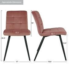2er set esszimmerstuhl polsterstuhl stoff samt rosa pink metallbeine