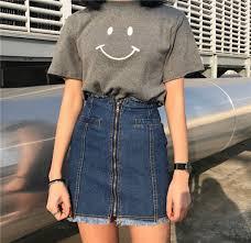 Skirt Denim Denim Skirt A Line Skirt Retro Retro Skirt