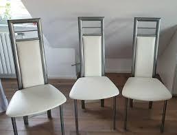 4 küchenstühle esszimmerstühle mit metallgestell