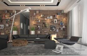 Apartment Lighting Open Shelving Angular Insert Adds Dual Gallery With Modern Rustic Decor Ideas Images