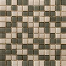 shop emser lucente pewter morning fog glass mosaic square wall