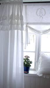 carol weiß vorhang gardine 120x240 volant landhaus shabby