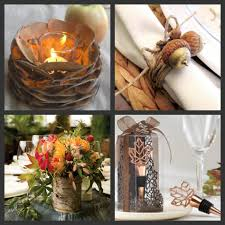 Fall Wedding Decor Candles