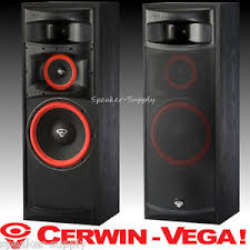 pair 2 new cerwin vega xls 12 12in 3 way floor tower speakers