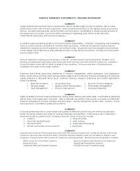 Resume Overview Examples Colbro
