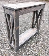 ENTRY TABLE Farmhouse X Style Rustic Console Table