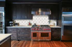 Kitchen Backsplash Ideas With Dark Oak Cabinets by Arabesque Tile Design Kitchen Backsplash Waterjet Water Jet