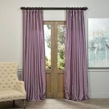 Exclusive Fabrics Smoky Plum Vintage Faux Dupioni Silk Curtain