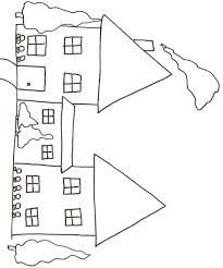 coloriage d une maison 1 tête à modeler
