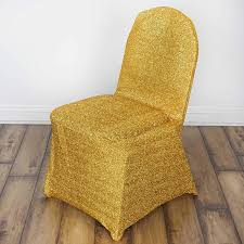 BalsaCircle 10 Pcs Gold Metallic Spandex Banquet Chair Covers Slipcovers  For Wedding Party Reception Decorations Chiavari Chairs Vs Chair Covers With Flair Gold Hug Cover Decor Dreams Blackgoldchampagne Satin Chair Covers Tie Back 2019 2018 New Arrival Wedding Decorations Vinatge Bridal Sash Chiffon Ribbon Simple Supplies From Chic_cheap Leatherette Quilted Fanfare Chameleon Jacket Medallion Decoration Package 61 80 People In S40 Chesterfield Stretch Spandex Folding Royal Marines Museum And Sashes Lizard Metallic Banquet Silver Outdoor
