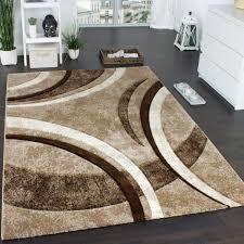 designer teppich braun beige creme meliert