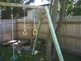 woodworking plans for building a simple swing set out of wood