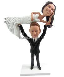 weight lifter wedding cake topper