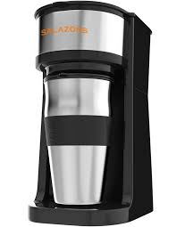 Vremi Single Cup Coffee Maker Includes 14 Oz Travel Mug And Reusable Filter Personal 1 Drip To Brew Ground Beans Black
