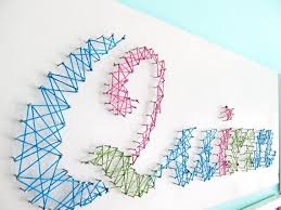 String Artistic Personalized Baby Name Wall Art Colorfull Unique Plastic Tie Rope Decorations Extraordinary