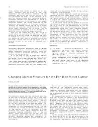 100 Trucking Deregulation CHANGING MARKET STRUCTURE FOR THE FORHIRE MOTOR CARRIER