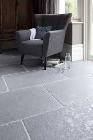 Grey Shade Worn Limestone Floors For A Living Room