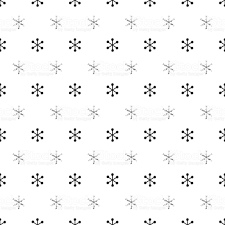 Christmas New Year Seamless Pattern With Snowflakes Holiday