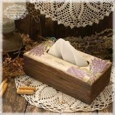 Lavender Wooden Tissue Box Napkin HolderNapkin Shabby Chic Rustic Stylevintage Look Holderlavenderdecoupaged