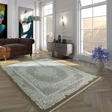wohnzimmer teppich orient design ornamente fransen
