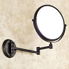 kosmetikspiegel antik messing bad accessoires schwarz