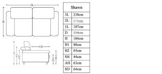 taille canapé 3 places canapé cuir 3 places pour intérieur design shawn mobilier moss