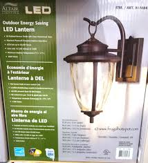 altair lighting outdoor energy saving led lantern costco