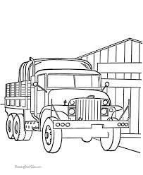 Military Vehicles Troop Transport Trucks Coloring Pages For Kids Printable