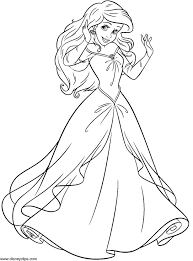 Little Mermaid Colouring Page Inspiration Graphic Princess Ariel Coloring Pages