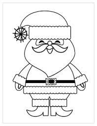 Printable Christmas Coloring Page Santa