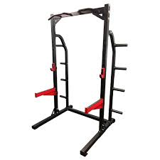 HD1 Half Rack With Flat Bench And 100kg Olympic Weight Set