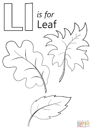 Download Coloring Pages Letter L Is For Leaf Page Free