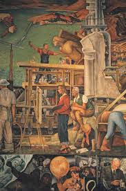 diego rivera mural at coit tower san francisco a gallery on