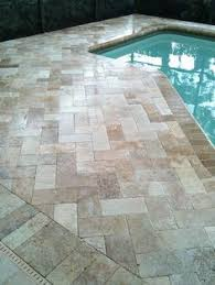 ivory swirl travertine pavers the official pool paver of diy s