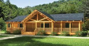 Large One Story Homes by Finally A One Story Log Home That Has It All Click To View Floor