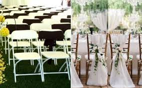Excellent Folding Chair Decorations For Wedding Outdoor And Patio ... 40 Pretty Ways To Decorate Your Wedding Chairs Martha Stewart Weddings San Diego Party Rentals Platinum Event Monogram Decorations Ideas Inside Tables And 1888builders Spandex Folding Chair Cover Lavender Padded Hire For Outdoor Parties In Sydney Can Plastic Look Elegant For My Ctc 23 Decoration White Galleryeptune Aisle Metal Unique Reception Seating