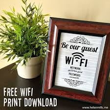 Free Guest Wifi Password Sign
