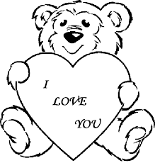 Love Coloring Pages Cute Teddy Bear