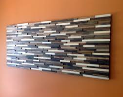 Reclaimed Wood Wall Art Abstract Home