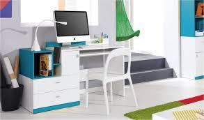 bureau chambre enfant bureau design ado et enfant en bois blanc et bleu jolly