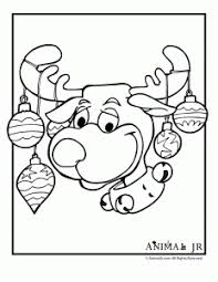 Silly Reindeer Coloring Page