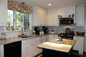 Off White Kitchen Cabinets Modern With Black Countertops