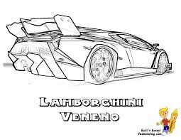 Coloring Lamborghini Veneno Rear View At YesColoring