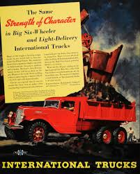 1936 Ad International Six-Wheel Trucks Strength C-55-F - ORIGINAL ...