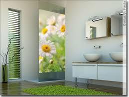 glasbild fensteraufkleber mit margeriten fotofolie