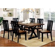 100 Dining Room Chairs With Oak Accents Amazoncom Furniture Of America Lara Farmhouse Style 7Piece Two
