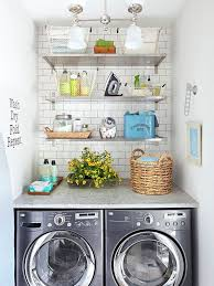 Even Your Laundry Room Can Be Stylish Thanks To Spiffy Shelves And A Fresh